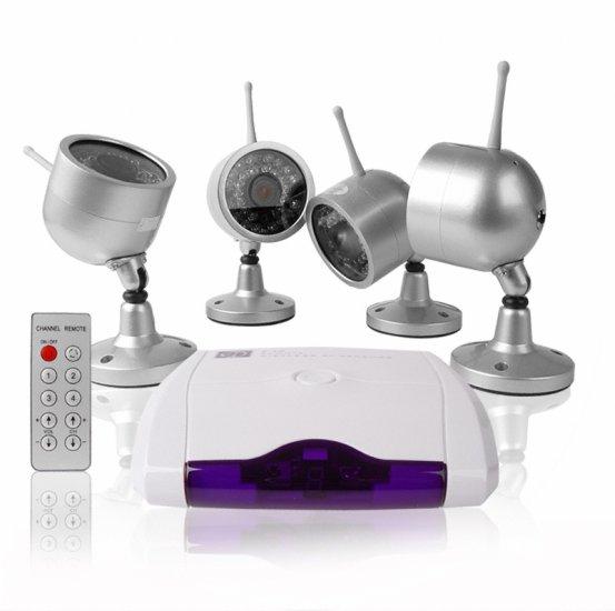 Wireless Home Surveillance Kit - 4 Nightvision Cameras +Receiver