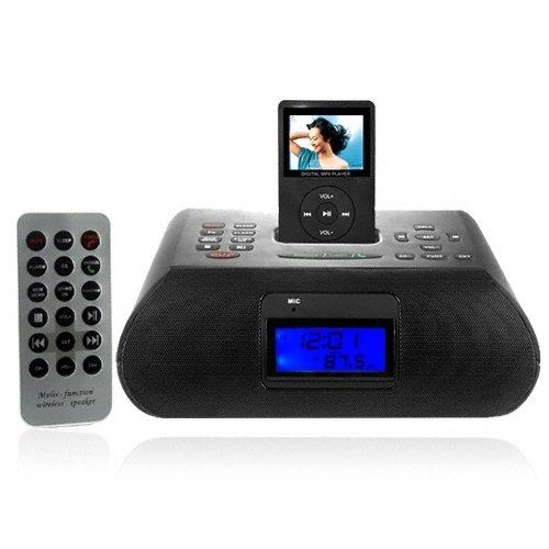 MP3 Clock Radio with Bluetooth - Black