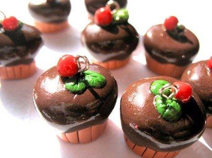 2 Chocolate Muffin Charm