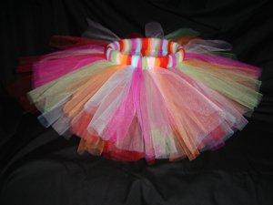 Multi-Colored Tutu 2-3T Knee Length