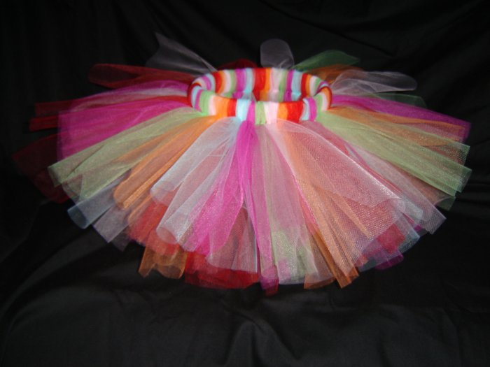 Multi-Colored Tutu 6-12M Knee Length