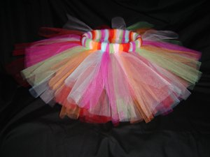 Multi-Colored Tutu 6-12M Knee Length