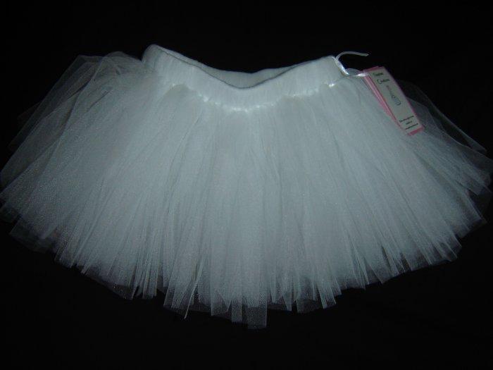 White Tutu 0-6M Knee