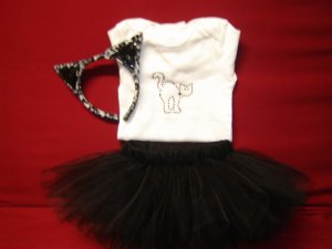 Custom Cat Halloween Tutu Costume