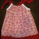 Red and White Pillowcase Dress-Free Shipping 2T