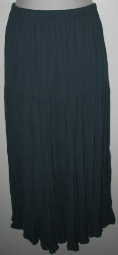 Vintage Yoakum Double D Ranch Long Tiered Southwestern Broomstick Peasant Skirt Size Medium