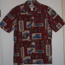 Men's Woody Surf Board Hawaiian Shirt by Paradise Style Size Small