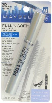 (5) Maybelline SOFT BLACK Full N Soft Waterproof Mascara Sealed Rare Lot