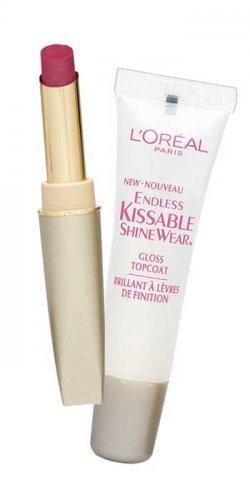 (2) Loreal MAUVE DESIRE #530 Endless Kissable Shinewear Lip Duo Includes Lipstick + Gloss L'oreal