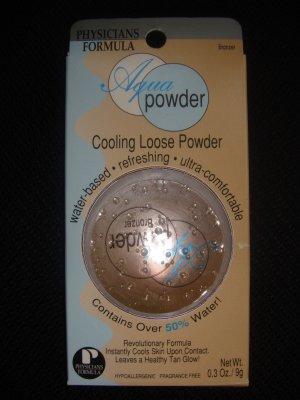 (2) PHYSICIANS FORMULA AQUA POWDER BRONZER COOLING LOOSE POWDER Discontinued Rare