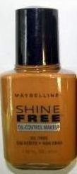 (1) Maybelline CARAMEL #12 Shine Free Makeup Oil Control Discontinued
