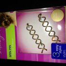 (1) Goody LIGHT HAIR Spin pin Simply Styles New In Box