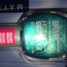 (1) Maybelline TEAL THE NIGHT Express Finish Nail Polish
