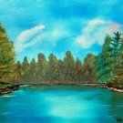 At the Lake, Original Oil Painting