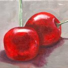Cherries, Original Oil Painting, Free Shipping