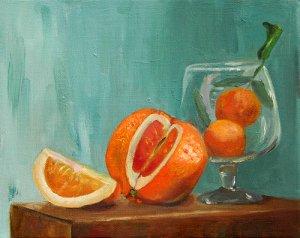 Oranges, An Original Oil Painting