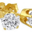 1/5 Ct.-14K Yellow Gold Diamond Stud Earrings