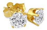 1/5 Ct.-14K Yellow Gold Diamond Stud Earrings
