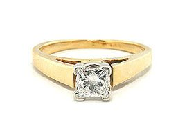 0.52 Ct Diamond Engagement Ring--size 5