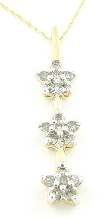 O.50 Ctw Diamond Pendant with 10K chain