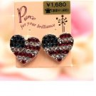 USA heart earrings