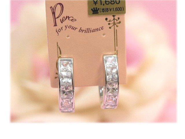square stones hoop earrings