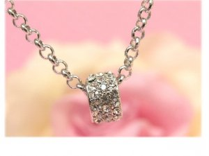 sparkling one ring necklace