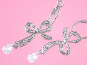 ribbon hoop earrings