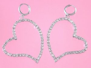 oversize heart earrings