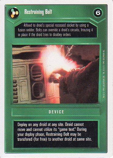Star Wars CCG 1995 - Restraining Bolt