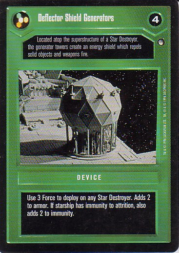 Star Wars CCG 1995 - Deflector Shield Generators