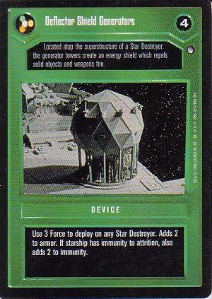 Star Wars CCG 1995 - Deflector Shield Generators