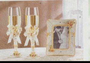 Ceremonial Wedding Glasses & matching frame