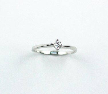 France Design - Solitaire Series III with Single Zirconia Stone 925 Silver Ring