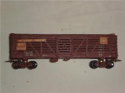 HO Train Wooden Missouri Pacific Cattle Car Model Railroad