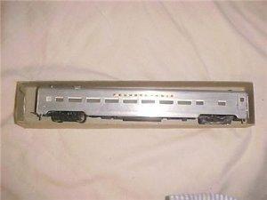 HO Pennsylvania Railroad Aluminum Passenger Coach Old