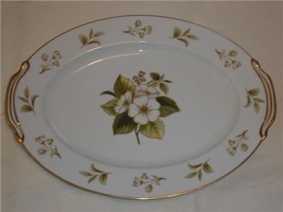 Noritake Dogwood Serving Platter Plate Japan Fine China