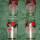 1986 Kentucky Derby Glass Set of 4 Churchhill Downs