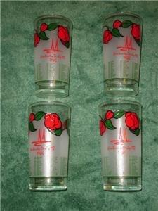 1986 Kentucky Derby Glass Set of 4 Churchhill Downs