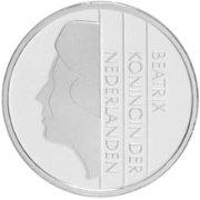 SILVER 2001 NETHERLANDS BEATRIX GUILDEN PROOF COIN
