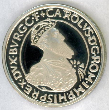 SILVER 1987 (qp) BELGIUM  PROOF 5 ECU - LOW MINTAGE AND HIGHLY SOUGHT AFTER !