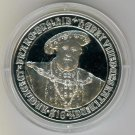 SILVER 2007 HENRY VIII $10 PROOF FROM THE BRITISH VIRGIN ISLANDS !!
