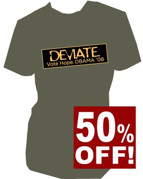 �Deviate. Vote Hope� Bumper Sticker | unisex | SM - 3XL (please indicate size during checkout)