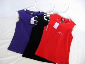Choppers For Chics Shoulder Chain Tank Top Red Purple or Black only 15.99 Choose Size