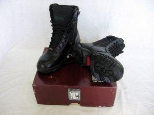 Rhino Boots Genuine Leather Black Hightop Low top High Top Zipper, Velcro 48.50