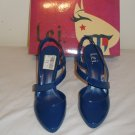 L.e.i Medium Blue Patent Pumps size 9 Brand New in Box