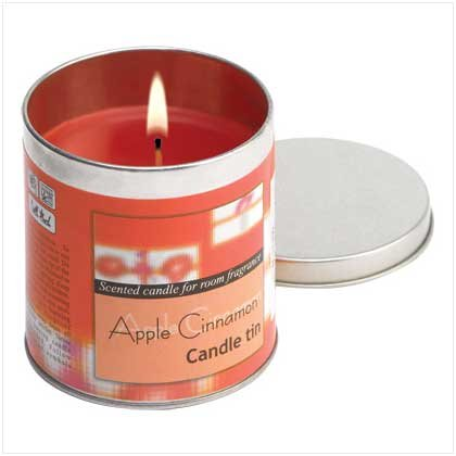 APPLE CINNAMON SCENTED CANDLE TIN