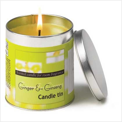 GINGER GINSENG SCENTED CANDLE TIN