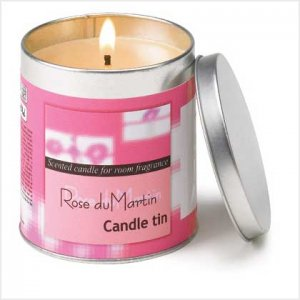 ROSE DU MARTIN SCENTED CANDLE TIN