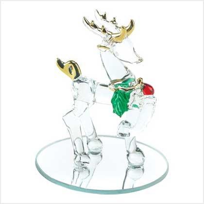 NEW! SPUN-GLASS REINDEER-ITEM #39047-BUY 1, GET 1 FREE